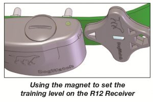 using the magnet to set training level